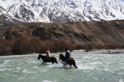 The Pamirs on a horse's back
