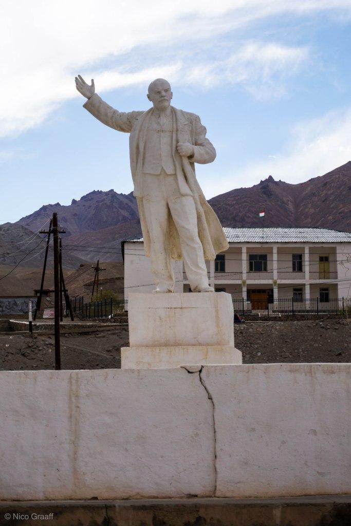 Lenin Statue in Murghab